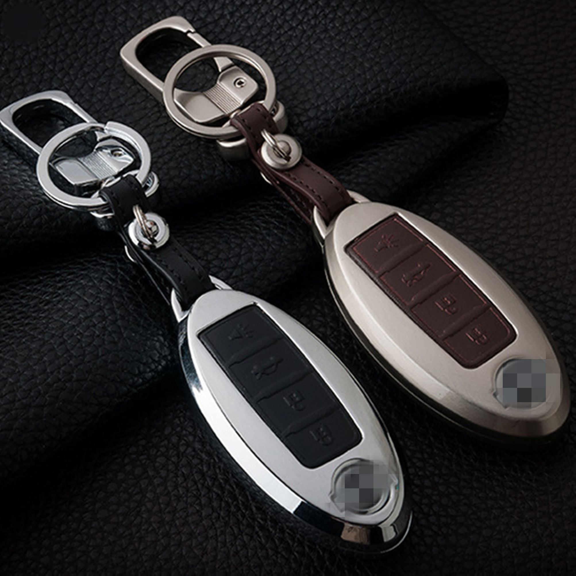 Hot Sale Zinc Alloy Key Cover Holder Fob For Nissan Gt R Armada 370z 2011 Altima Fuse Box Menu Cube Juke Maxima Murano Pathfinder Quest Rogue Sentra Versa