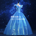 2016  Movie Cinderella Cosplay Costume women Princess Cinderella Dress Sexy costumes