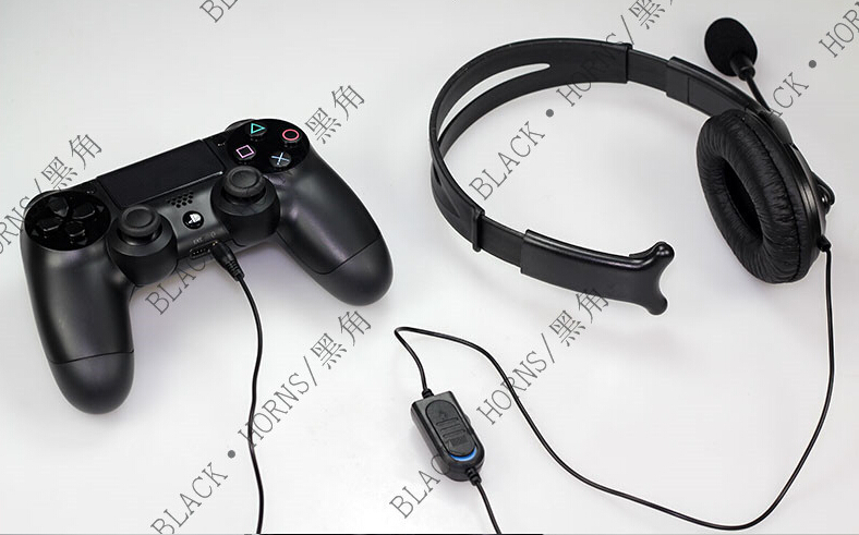 Wired Gaming Aceesories Headset Unilateral Hörlurar Med Mikrofon För PS4 PlayStation 4 PC 3,5 mm Pluggar Kabel