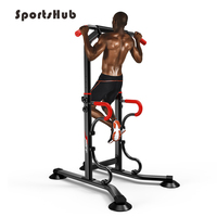 Integrated Fitness Equipments Power Tower Adjustable Heights Workout Dip Station Home Gym Strength Training O2K0015