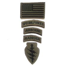 5PCS/Set SPECIAL FORCES RANGER AIRBORNE Military Tactical Embroidered Patch Badge Embroidery