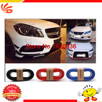 Hot Selling 3 Color Red Blue Black TPVC 2 5m Car Body Kit Front Rear Side