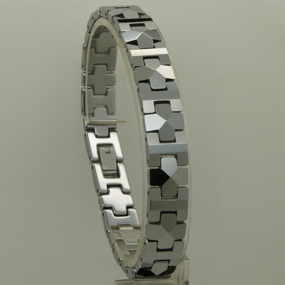 pánské šperky 10 mm šířka geometrický aspekt propojení 6 délka klasický hi-tech poškrábání odolný wolframový náramek