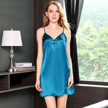 Женская пикантная ночная рубашка 100% Шелковая пятнистая одежда