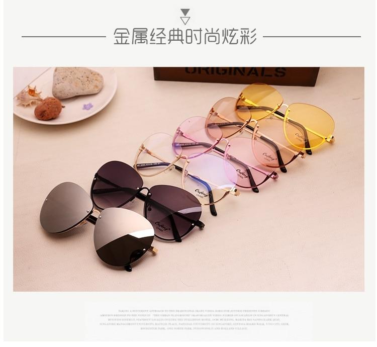 95f126f678 2017 nueva marca de moda gafas transparentes para mujer gafas ...
