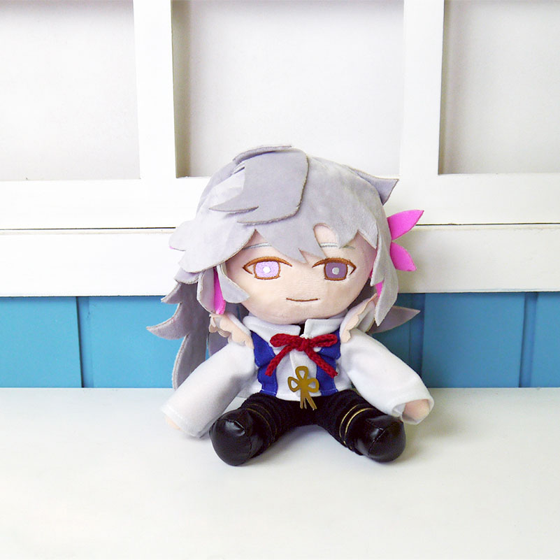Fate/Grand Order FGO plush toy Servant Merlin doll 22cm high quality cosplay short plush cute doll free shipping цена