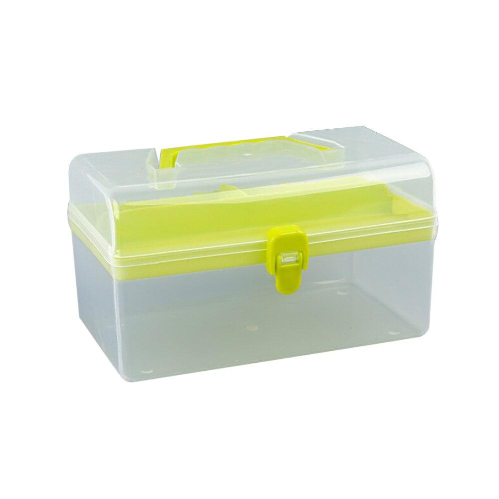 Clear Plastic Multipurpose Portable Handled Organizer Storage Box