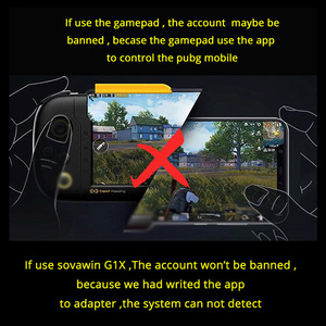 Image 4 - Sovawin G1X Plug and Play PUBG Mobile Gamepad Controller Gaming Keyboard Mouse Android Phone to PC Converter Adapter for iPhone