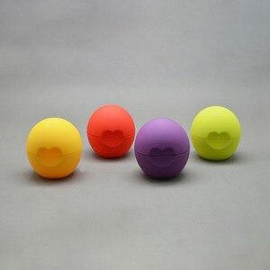 50pcs Blank Cosmetic Ball Container heart shape 7g Lip Balm Jar Eye Gloss Cream Sample Case
