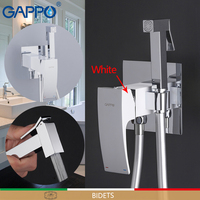 GAPPO Bidets brass toilet spray faucet chrome white plating faucet bidet bathroom bidet shower toilet water spray bath shower