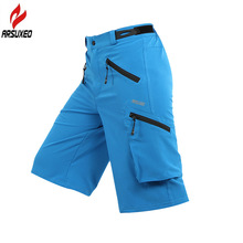 ARSUXEO Summer Men's Cycling Shorts MTB Mountain Bike Bicycle Outdoor Sports Running Hiking Moto Cross-country Downhill Shorts arsuxeo men s outdoor sports cycling shorts downhill mtb shorts protective padded shorts for skiing snowboarding