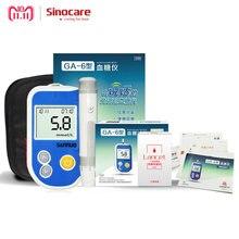 Sinocare GA-6 kan şekeri monitörü 100 bireysel Test Strips 100 Lancets