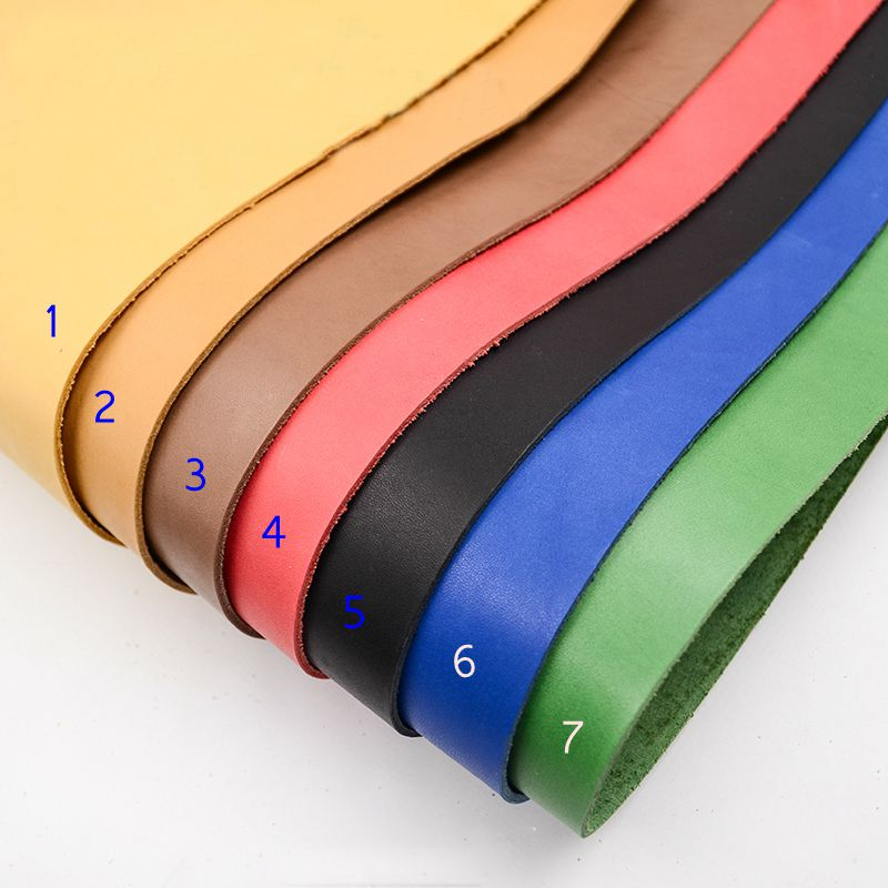 first layer cowhide leather thick genuine leather about 2mm thick good for leather carving cowhide leather 7 color choice