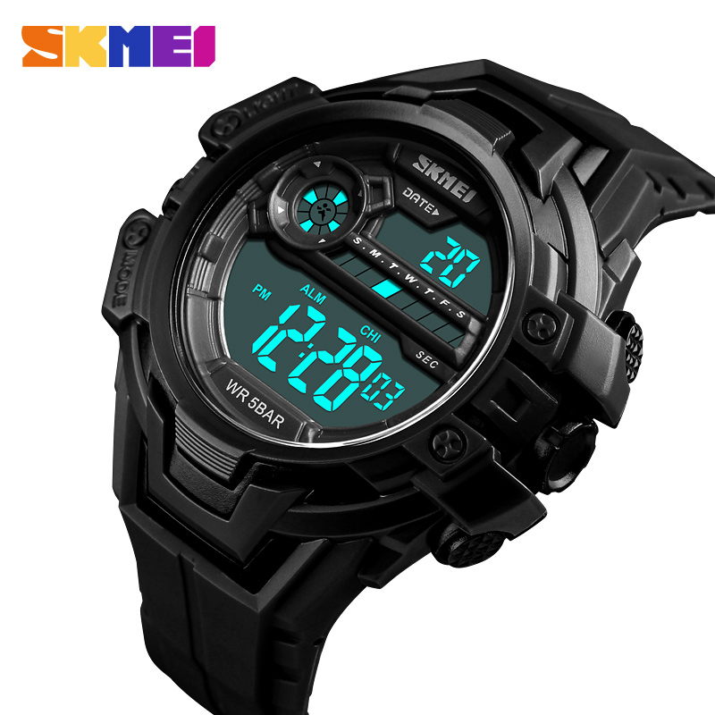 SKMEI Luxury Sports Watches Men Fashion LED Electronic Waterproof Digital Military Casual Wrist Watch relogio masculino winner skeleton mechanical watch luxury men black waterproof fashion casual military brand sports watches relogios masculino