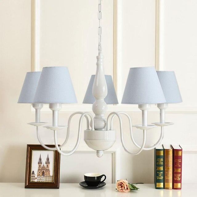 Abat Jour Romantique Chambre romantique princesse style européen lit chambre salon lustre tissu
