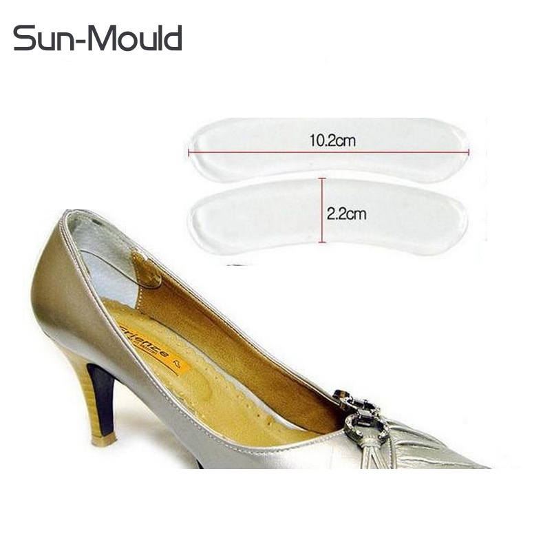 6pairs/lot New soft silicone pads insole heels pedicures Protector Cushion Care anti-skid pad shoe insert invisible clear pad new fashion brand new 3 pair fashion silicone gel heel cushion protector shoe insert pad insole free shipping for gift