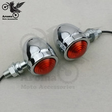1 pair free shipping Motorcycle LED lighting motorbike Turn Signal light for Haley Davidson parts Electroplate sliver unviersal