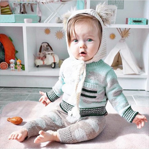 Весна зима новорожденный мальчик одежды облако вязаный свитер хлопок o-образным вырезом дети кардиган новорожденных девочек одежда свитер для детей