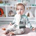 Inverno primavera roupas bebê recém-nascido menino nuvem camisola de malha de algodão o-pescoço crianças cardigan meninas do bebê camisola roupas para crianças