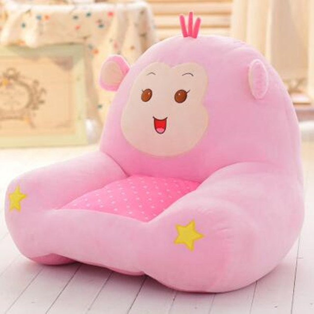 Baby Plush Chair And Seat Princess Pink Kids Beanbag Chair Cartoon Kawaii  Cute Children Sofa Sleeping