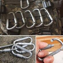 Carabine 6pcs/lot Travel Kit Camping Equipment Alloy Aluminum Carabiner