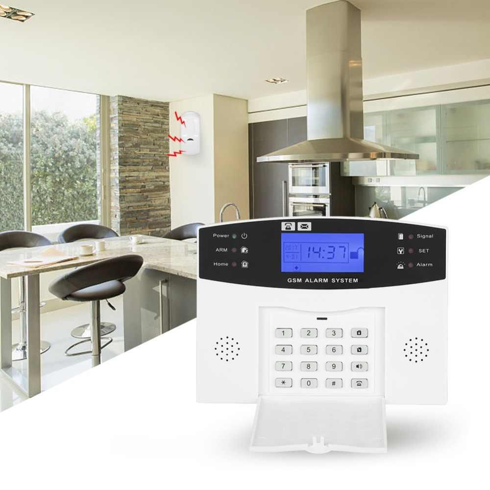 433 мГц беспроводной домашней безопасности GSM сигнализация домофон для iOS приложение Android дистанционное управление