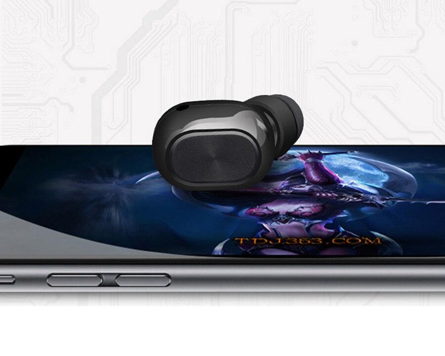 Volemer Mini Stereo Earbuds Hidden Invisible Earpiece Micro Wireless  Headphone Headset Bluetooth Earphone Headphone For Phone (8)