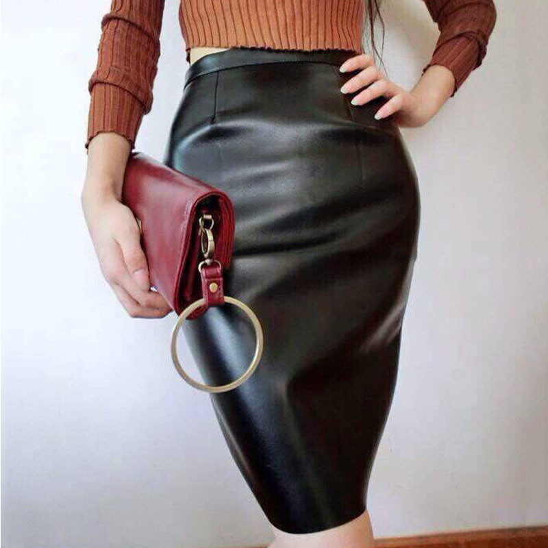 women-skirt-2015-winter-high-waist-pu-pink-pencil-sexy-skirts-KB887