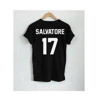 2017 Summer Casual Salvatore 17 Women T Shirt Year Of Birth Vampire Diaries Mystic Falls Tops