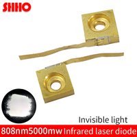 Invisible light C Mount high power 808nm 5000mw infrared laser diode IR laser emitter 5W laser semiconductor launcher fill light