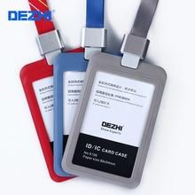 Купить DEZHI-модный стиль ID IC карты знак держатель Работа карты с полиэфирной шнурки, самая низкая цена, может таможня логотип, OEM!