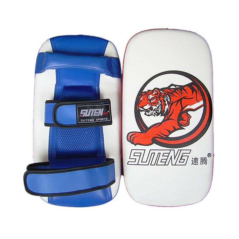 SUTEN Faux Leather Boxing Sand Bag Foot Target Training Pad For Kicking Boxing Taekwondo Shockproof Tiger Foot Target