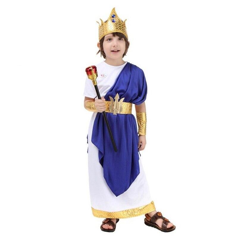 Costume romain ancien pour la fête des enfants Halloween Cosplay Party grec Neptune jeu de rôle - 2