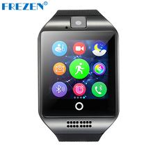 FREZEN Bluetooth Smart Watch Q18 Watch With Camera MP3 Smartwatch Support SIM TF Card For Android Phone PK DZ09 A1 GT08 U8