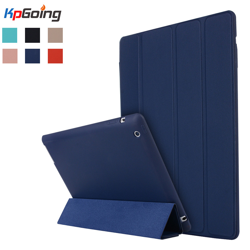 For Apple ipad 2 3 4 Case Flip PU Leather Front Case + Soft TPU Silicone Cover For ipad 2 ipad 4 Stand Holder Folio Case Fundas nice cover for apple new 2017 ipad air 1 case slim thin flip soft tpu silicone protect magnetic smart pu leather case cover