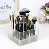 LUGUNU 2018 New Makeup Organizer Brushes Container Acrylic Storage Box Clear Cosmetic Organizer