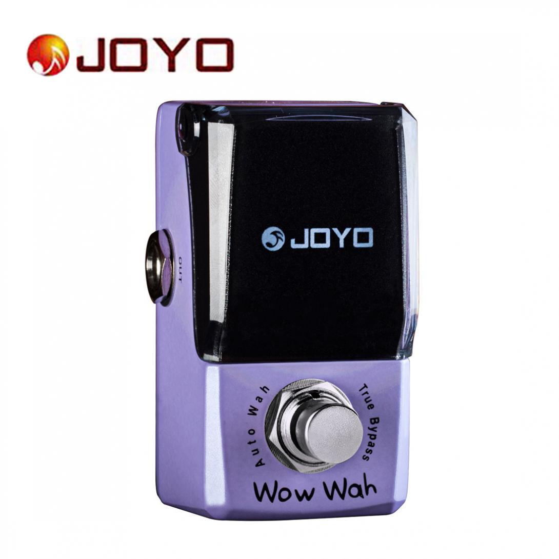 JOYO JF-322 Wow Wah Auto Wah Mini Electric Guitar Effect Pedal with Knob Guard True Bypass joyo wow wah autowah guitar effect pedal bias control true bypass sensitivity control jf 322 with free 3m cable