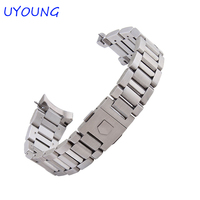 Quality solid stainless steel watchband 22mm for WAR201D.BA0723 replacement metal watch strap