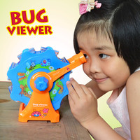 QICSYXJ Childrens Toys Insect Magnifying Glass Turntable Viewer Creative Kindergarten Science Experiment DIY Education for Kids