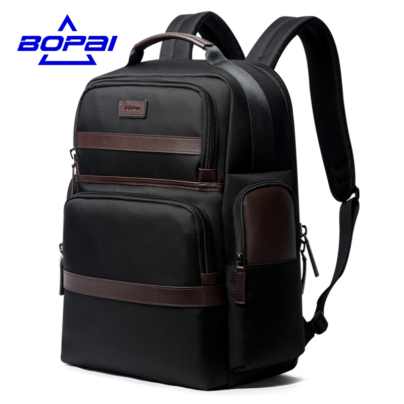 BOPAI Oxford Travel Laptop Men Backpack Casual Business Fashion Male Office Work Back Pack Bags Big School Backpack for Male multifunction men women backpacks usb charging male casual bags travel teenagers student back to school bags laptop back pack