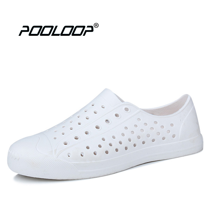 POOLOOP Unisex Summer Outdoor Breathable Flats Men's Casual Walking Sneakers Nativ Fashion Garden Clogs Cheap Work Shoes toursh 2018 summer women shoes light sneakers breathable mesh beach shoes female cheap casual outdoor lady walking flats shoes