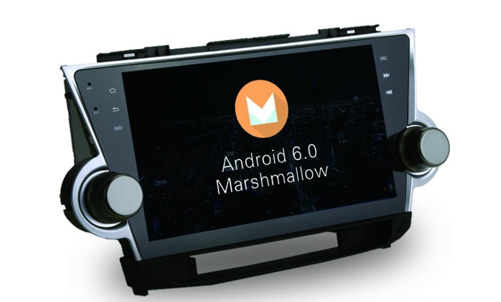 8-Core Android 6.0 10.2inch Car Dvd Gps Navi Audio for Toyota Highlander 2009-2014 Support 3G 4G DVR OBD Steering wheel DAB+