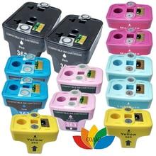 12 cartouche D'encre pour Compatible HP363 hp 363 XL pour HP Photosmart 3310 7180 8250 C6180 C6280 C7160 C7180 C7280 D6160 D6180 D7145