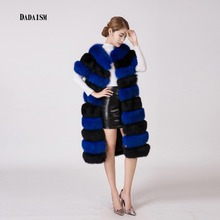 Vogue of new fund of 2016 fox fur extended double color bag shoulder waistcoat bag mail