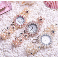 Small Watches Women's Bracelet Mini fashion Quartz Waterproof Zircon Simple Natural Pearl Bracelet List