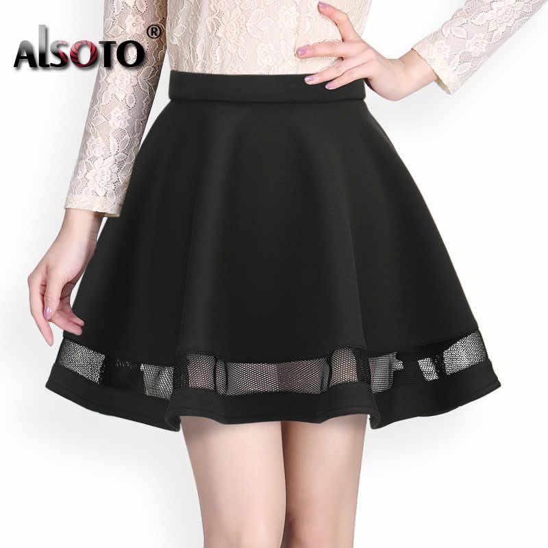 2020 여름 여성 치마 패션 탄성 팔다 숙녀 미디 스커트 섹시한 여자 미니 Pleated 스커트 saias etek jupe Korea clothes