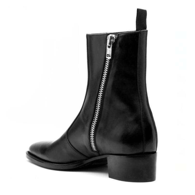 Moda Negro Fr Zapatos Lateral Con De Hombres Punta Botas 2019 Cuero Los La Lancelot As Showed Dedo Lujo Británico Del Cremallera Hombre Para Mujer 1 Marca Bota Pie zdw0qxw