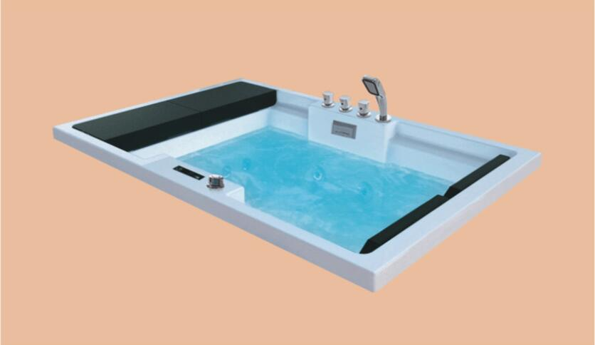 1850mm Fiberglass Drop-in whirlpool Bathtub Acrylic Hydromassage Embedded Surfing Tub NS6014