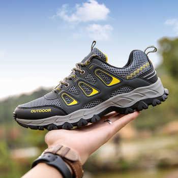 2019 ใหม่ผู้ชายรองเท้า Breathab ผู้ชายกีฬารองเท้าสำหรับชายกลางแจ้งเดินป่ารองเท้าผ้าใบ Non-slip สวมใส่รองเท้า