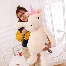 Kawaii Cute Unicorn Plush Toy Doll Pillow Stuffed Girl Handmade Dolls Baby Toys For Children Cartoon Stich Cushion Gift 50T0259